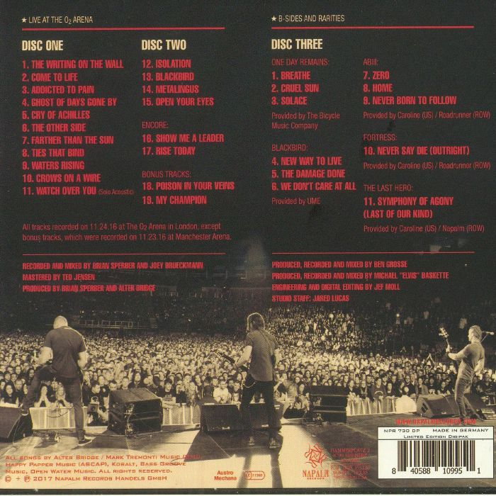 ALTER BRIDGE - Live At The O2 Arena & Rarities