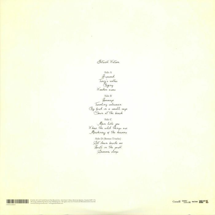 WATSON, Patrick - Wooden Arms (reissue)