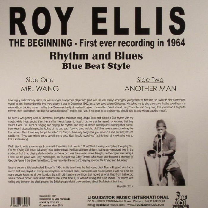 ELLIS, Roy - The Beginning: First Ever Recording In 1964