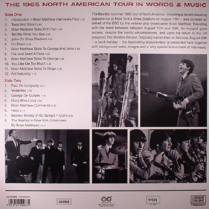 BEATLES, The - The Beatles Abroad: The 1965 North American Tour In Words & Music