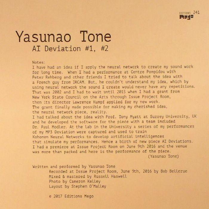 YASUNAO TONE - AI Deviation #1 #2