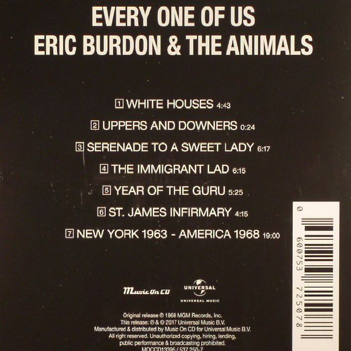 BURDON, Eric & THE ANIMALS - Every One Of Us