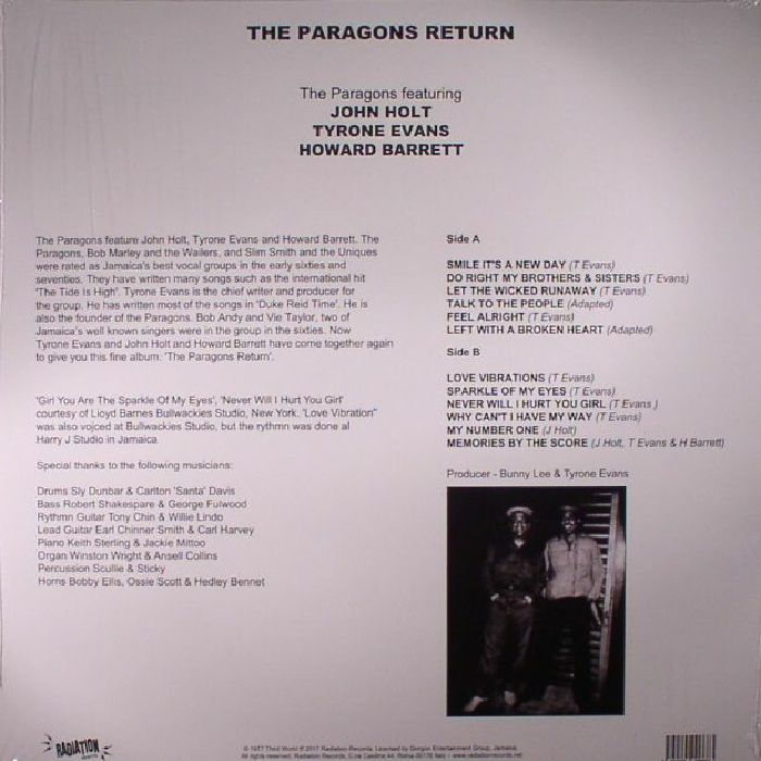 PARAGONS, The - Return