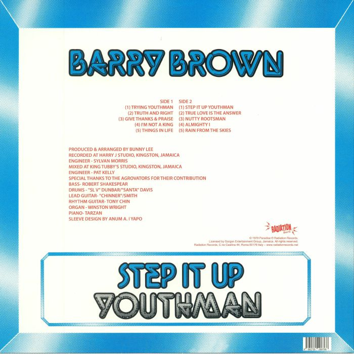 BROWN, Barry - Step It Up Youthman