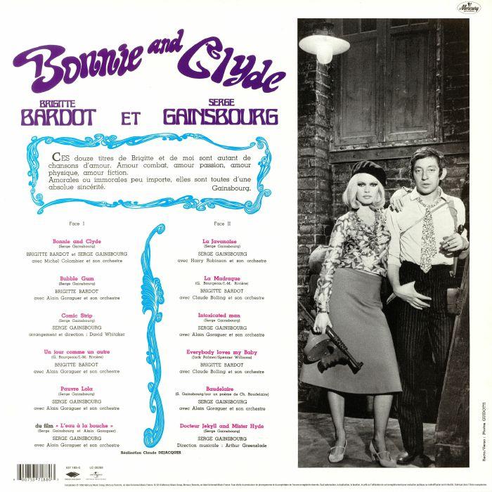 GAINSBOURG, Serge/BRIGITTE BARDOT - Bonnie & Clyde