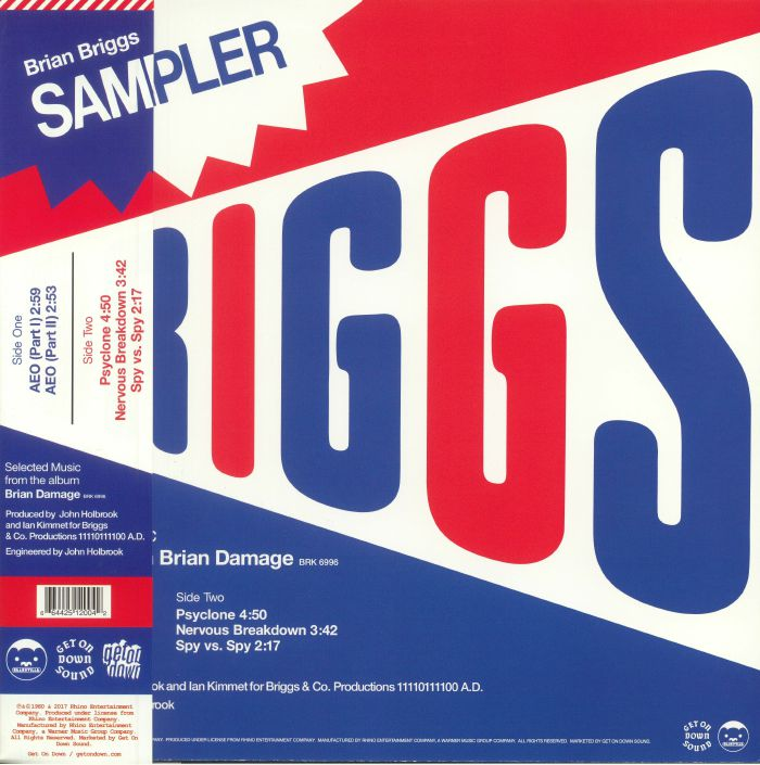 BRIGGS, Brian - Special Sampler: Selected Music From The Album Brian Damage