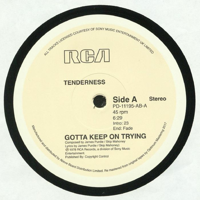 TENDERNESS - Gotta Keep On Trying (reissue)