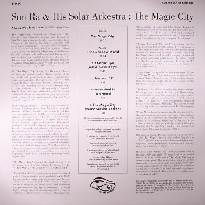 SUN RA & HIS SOLAR ARKESTRA - The Magic City (reissue)