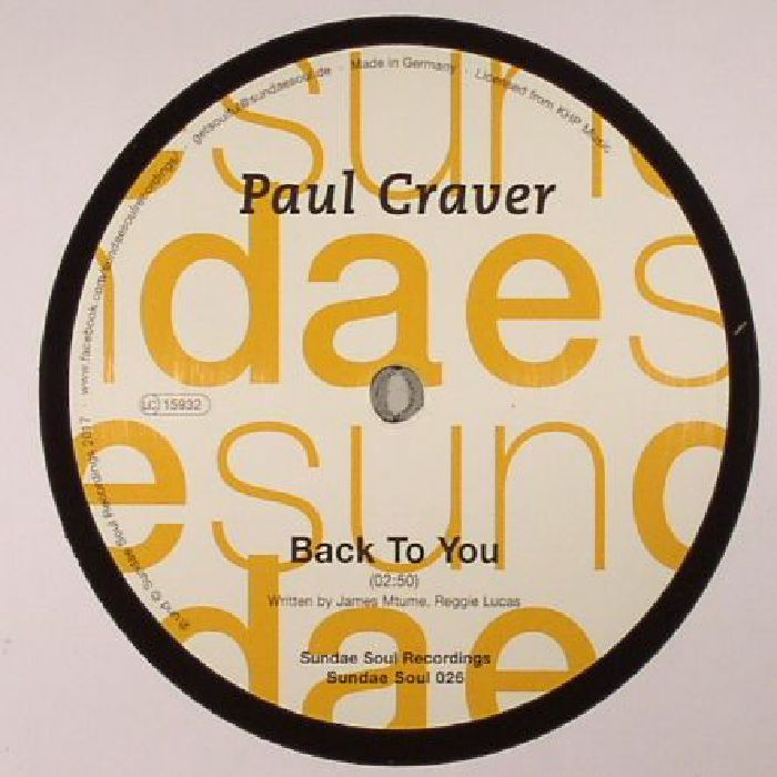 CRAVER, Paul - Back To You