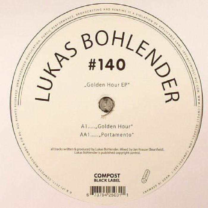 BOHLENDER, Lukas - Golden Hour EP