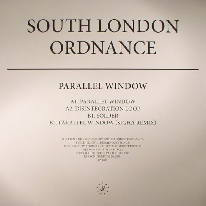 SOUTH LONDON ORDNANCE - Parallel Window