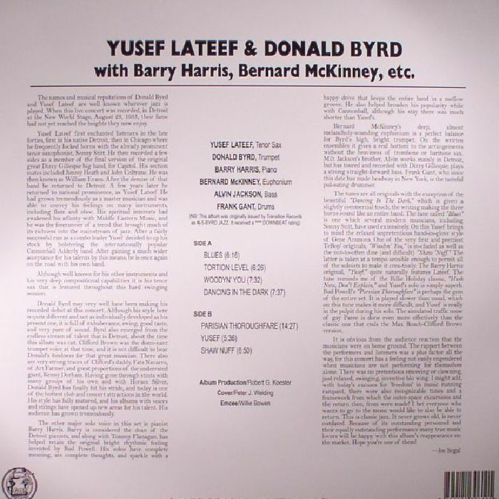 LATEEF, Yusef/DONALD BYRD - Byrd Jazz: First Flight At The Motor City Scenes (reissue)