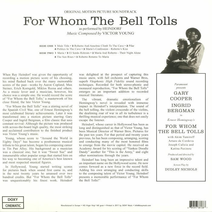 HEINDORF, Ray/VICTOR YOUNG - For Whom The Bell Tolls (Soundtrack)