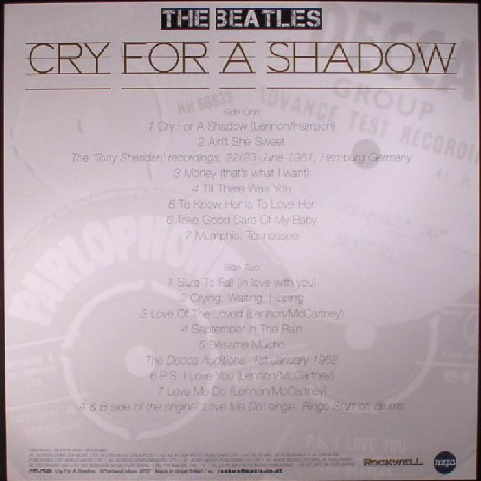 BEATLES, The - Cry For A Shadow