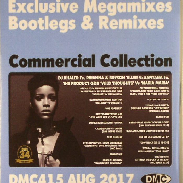 VARIOUS - DMC Commercial Collection August 2017: Exclusive Megamixes Bootlegs & Remixes (Strictly DJ Only)