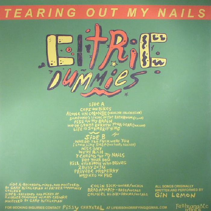 CITRIC DUMMIES - Tearing Out My Nails