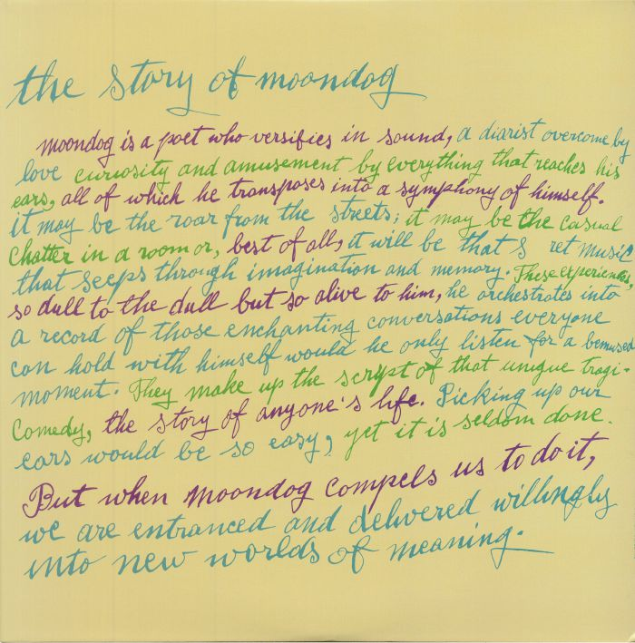 MOONDOG - The Story Of Moondog (reissue)