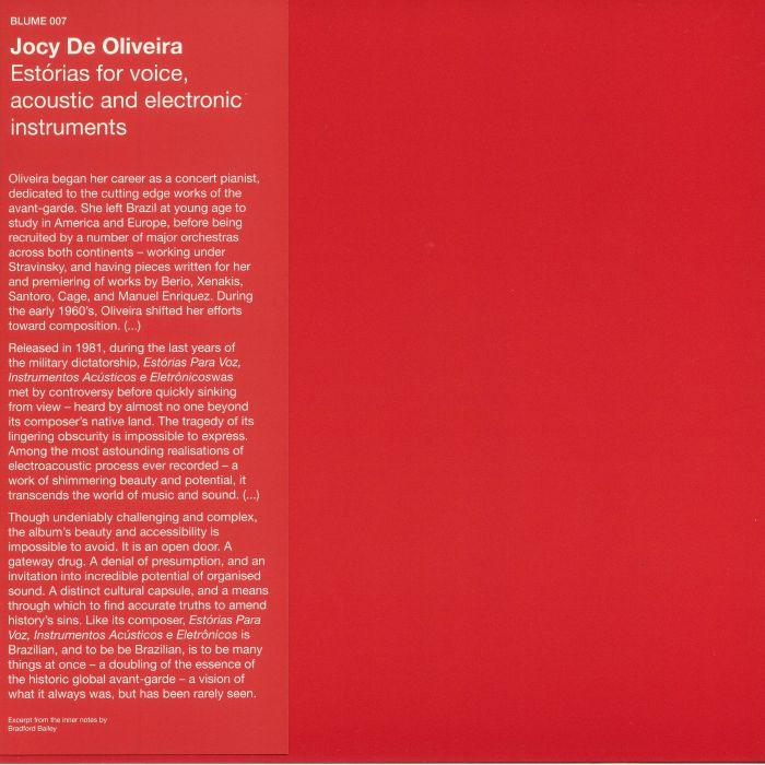 DE OLIVEIRA, Jocy - Estorias For Voice Acoustic & Electronic Instruments