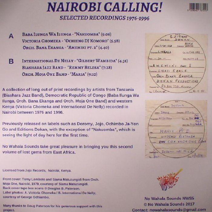 VARIOUS - Nairobi Calling: Selected Recordings 1976-1996