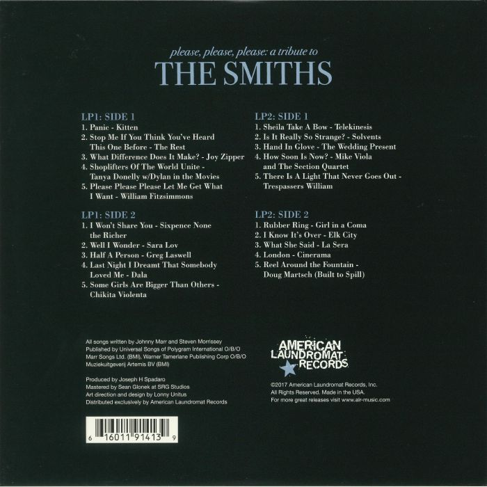 VARIOUS - Please Please Please: A Tribute To The Smiths (remastered)