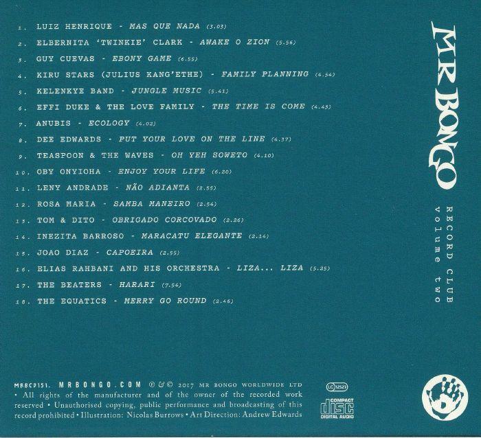 VARIOUS Mr Bongo Record Club Volume Two vinyl at Juno Records