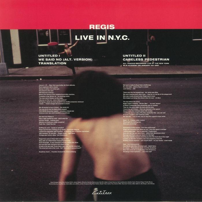 REGIS - Live In NYC