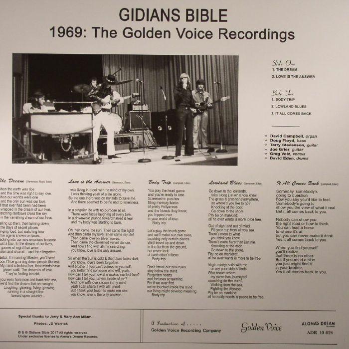 GIDIANS BIBLE - 1969: The Golden Voice Recordings