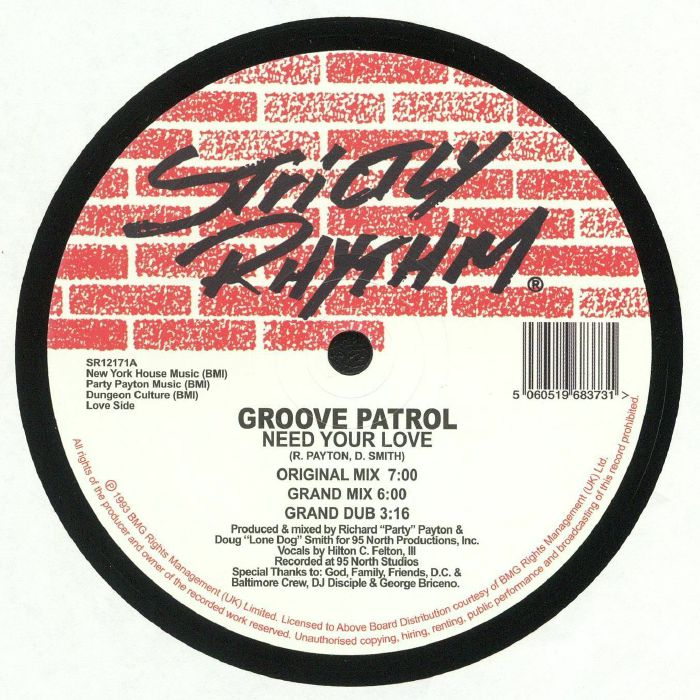 GROOVE PATROL - Need Your Love