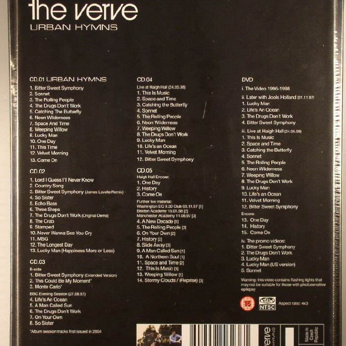 The Verve Urban Hymns Remastered Vinyl At Juno Records