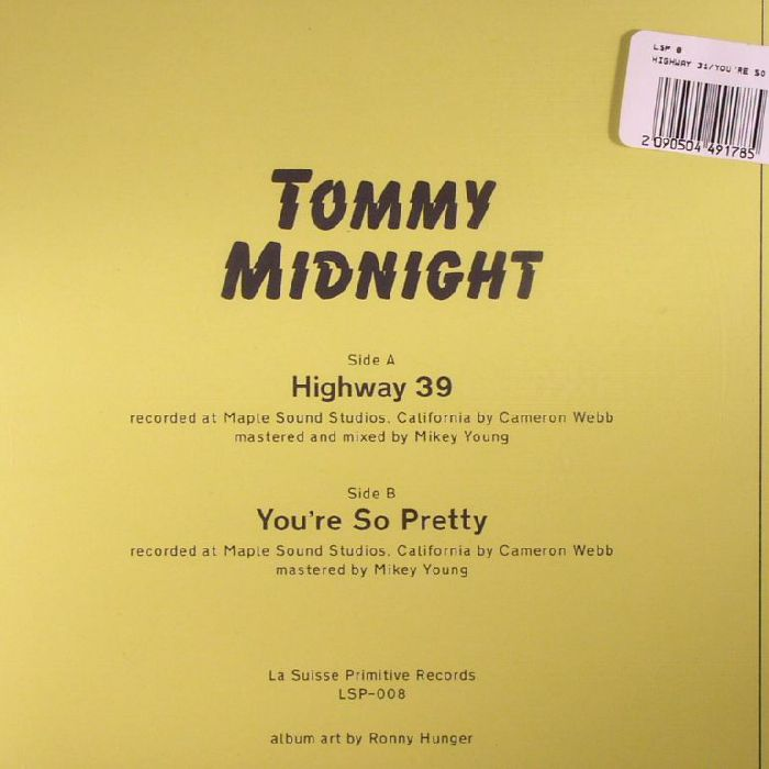 MIDNIGHT, Tommy - Highway 39