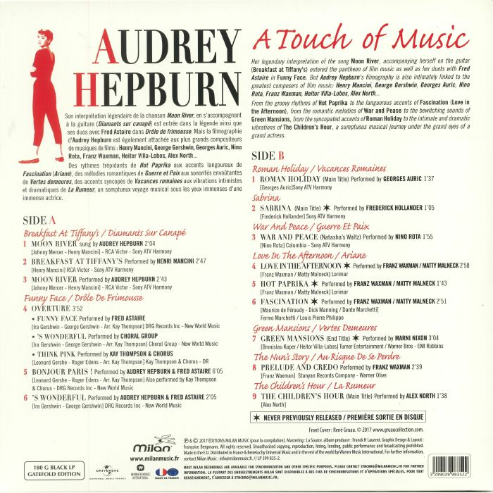 VARIOUS - Audrey Hepburn: A Touch Of Music