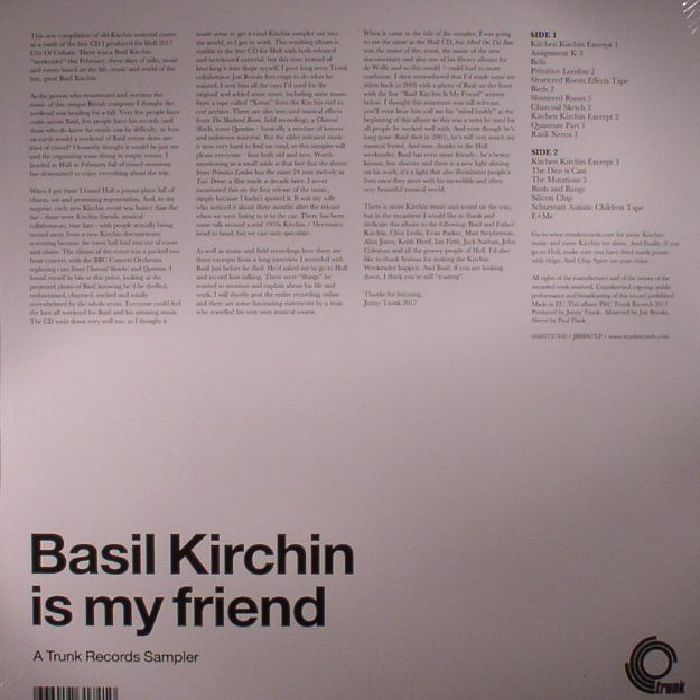 KIRCHIN, Basil - Basil Kirchin Is My Friend: A Trunk Records Sampler
