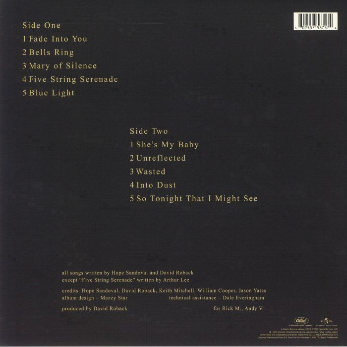 MAZZY STAR - So Tonight That I Might See (remastered)
