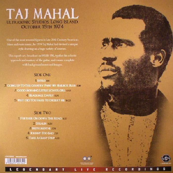 TAJ MAHAL - Ultrasonic Studios Long Island October 15th 1974