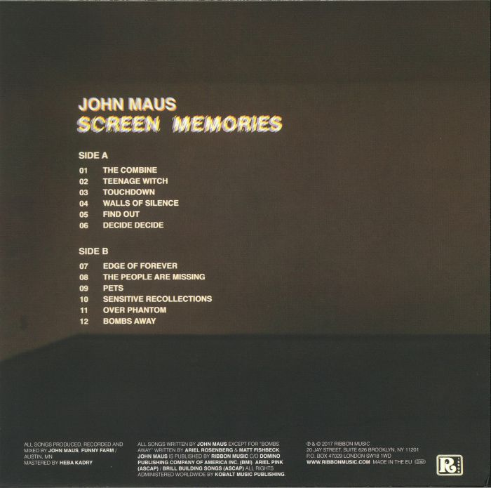 MAUS, John - Screen Memories