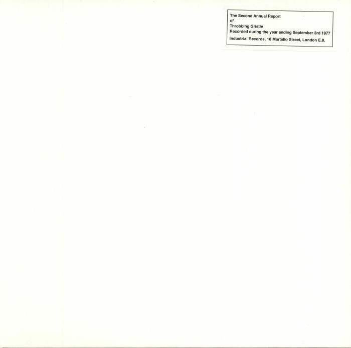 THROBBING GRISTLE - The Second Annual Report Of Throbbing Gristle: 40th Anniversary Edition
