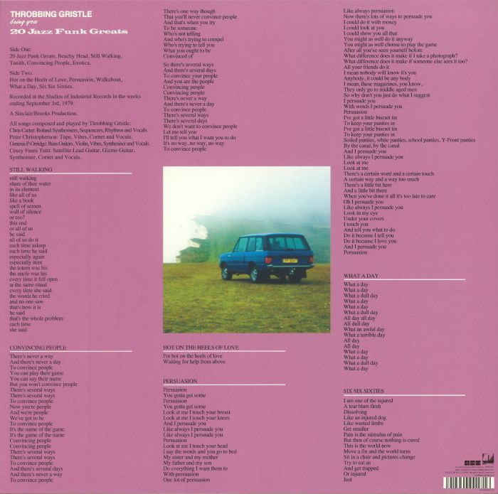 THROBBING GRISTLE - 20 Jazz Funk Greats (reissue)
