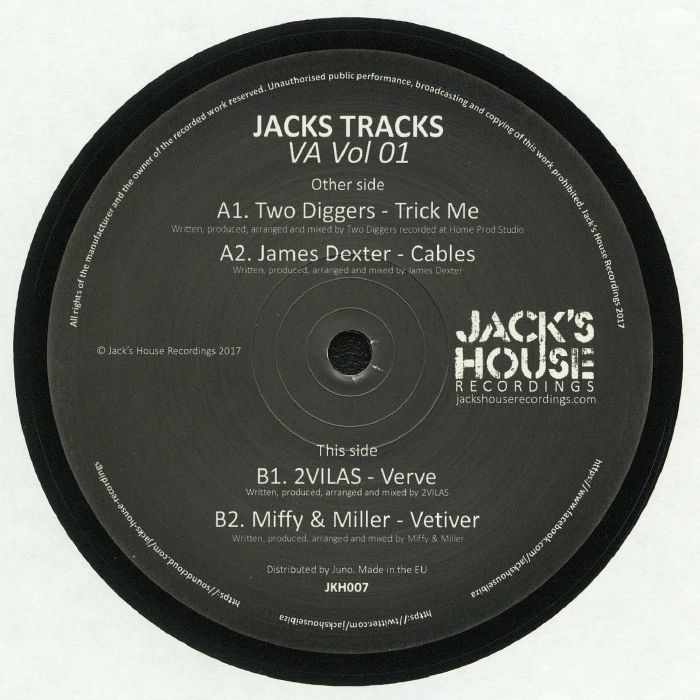 TWO DIGGERS/JAMES DEXTER/2VILAS/MIFFY & MILLER - Jacks Tracks VA Vol 01