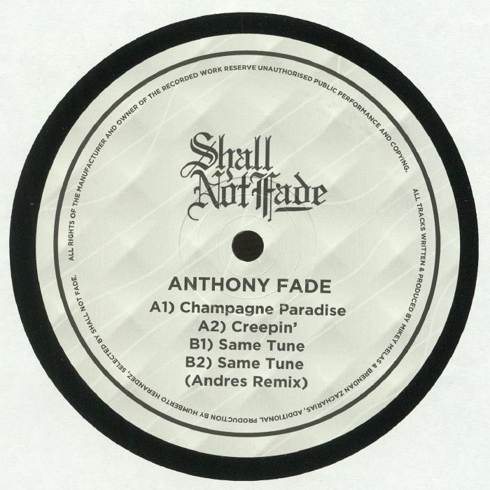 FADE, Anthony - Champagne Paradise