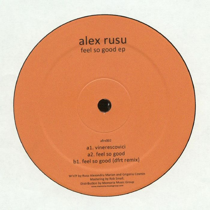 RUSU, Alex - Feel So Good EP