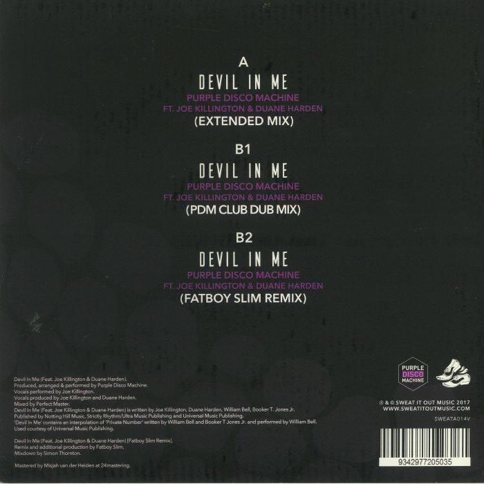 PURPLE DISCO MACHINE feat JOE KILLINGTON/DUANE HARDEN - Devil In Me