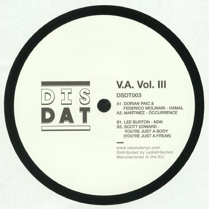 PAIC, Dorian/FREDERICO MOLINARI/MARTINEZ /LEE BURTON/SCOTT EDWARD - VA Vol III