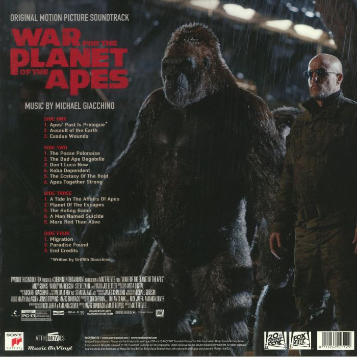 GIACCHINO,  Michael - War For The Planet Of The Apes (Soundtrack)