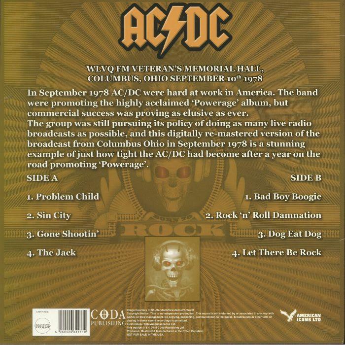AC/DC - Damnation Radio: In Concert Columbus 1978