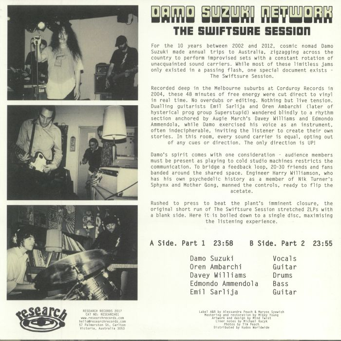 DAMO SUZUKI NETWORK - The Swiftsure Session