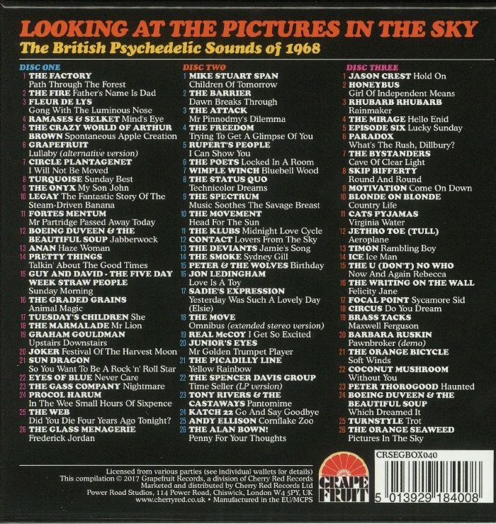 VARIOUS - Looking At The Pictures In The Sky: The British Psychedelic Sounds Of 1968