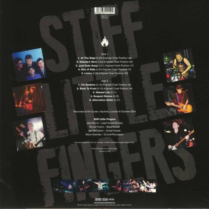 STIFF LITTLE FINGERS - Greatest Hits Live In London