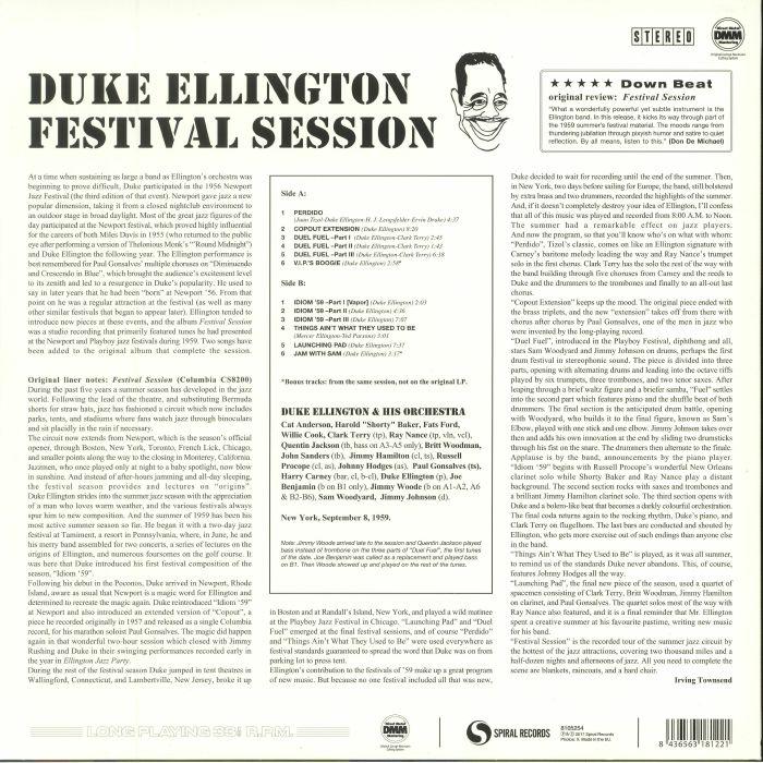 ELLINGTON, Duke & HIS ORCHESTRA - Festival Session (reissue)