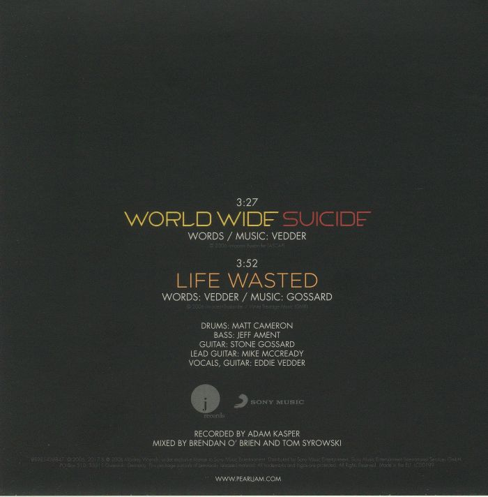 PEARL JAM - World Wide Suicide (reissue)