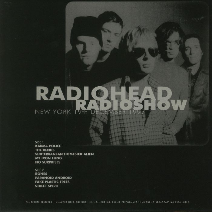 RADIOHEAD Radioshow: New York 19th December 1997 vinyl at Juno Records.